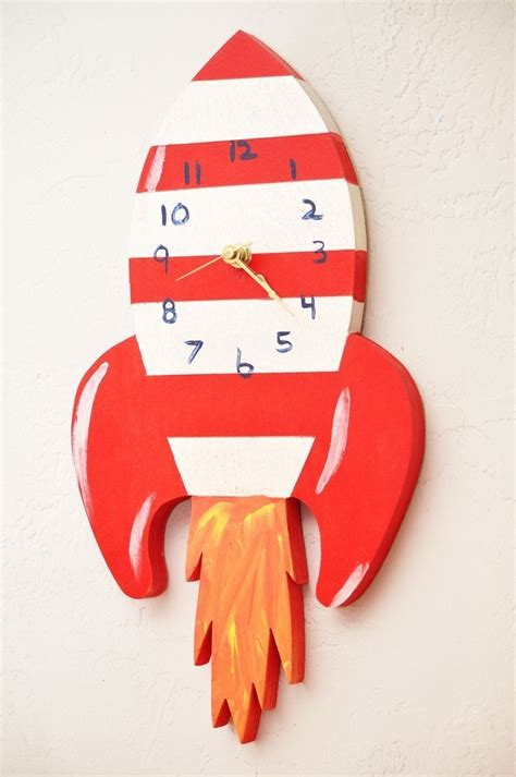 Handmade Childrens Wall Clock by 50Splinters Woodworks