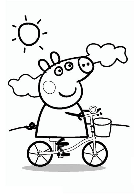 peppa pig muddy puddles coloring pages peppa pig swimming coloring pages coloring pages
