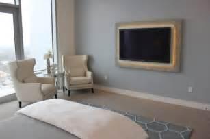 beautiful interiors featuring wall mounted tvs
