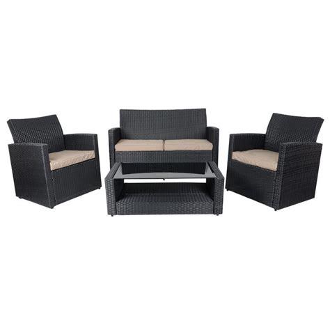 black wicker sofa black tuscany rattan wicker sofa garden set with coffee table