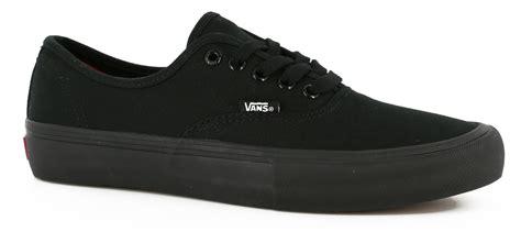 vans authentic pro skate shoes black black free shipping