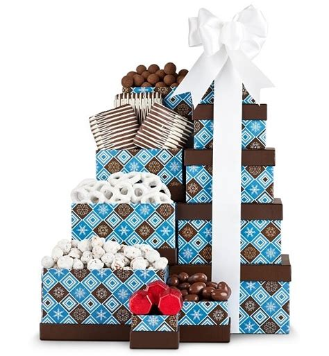 holiday chocolate gift tower christmas gift basket