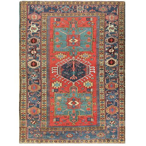 Scatter Rugs Small Antique Heriz Scatter Rug At 1stdibs