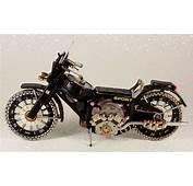 Miniaturas De Motos Com Sucata Reciclada Rel&243gio