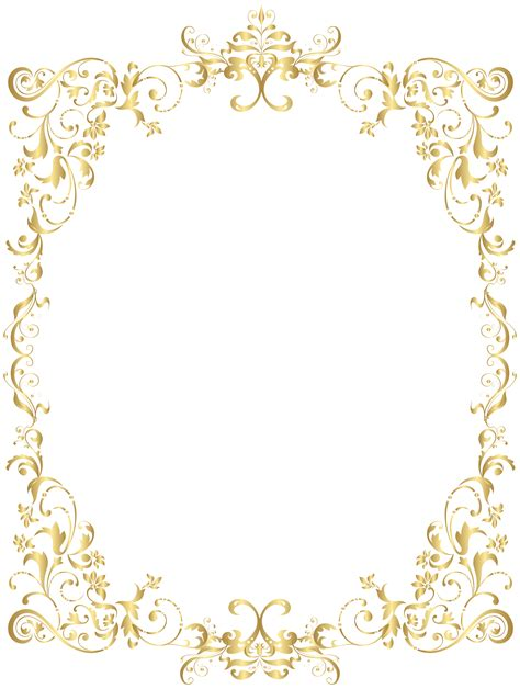 transparent background invitations announcements zazzle border gold decorative frame png clip art gallery