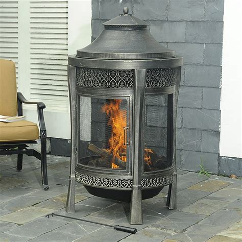 Sunjoy Fireplace by Sunjoy 110504002 Hailey Cast Fireplace Lowe S Canada