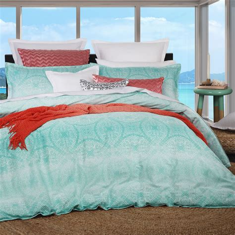 Quilt Cover Brands logan and byron aqua king size bed doona duvet