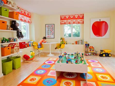 playroom with bright colors