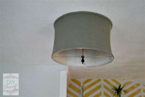 Diy Ceiling Light Shade Diy Ceiling Mount Drum Shade Light Fixture Tutorialdiy Show Diy Decorating And Home