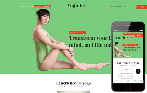 bootstrap templates for yoga yoga fit a sports category flat bootstrap responsive web