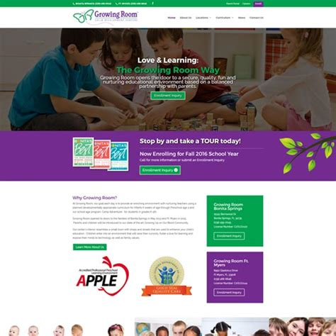 growing room tallahassee education tallahassee web design and development