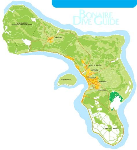 bonaire map bonaire tourist map bonaire mappery