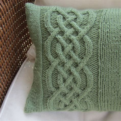 knit and knot celtic knot cable knit pillow lucky to be