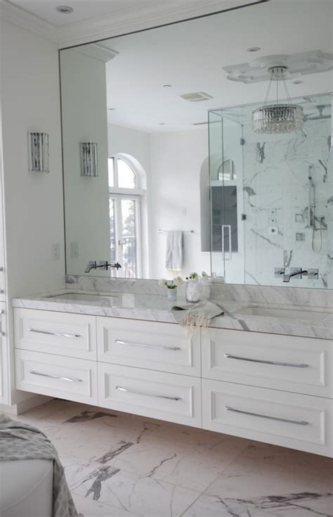 floating vanity transitional bathroom the