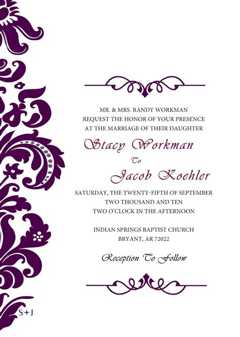 fancy invitation template wedding invitation templates invitations wedding formal