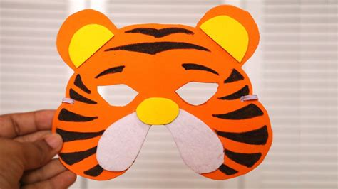 How To Make A Tiger Mask Out Of Paper - diy mask how to make tiger mask for diy birthday