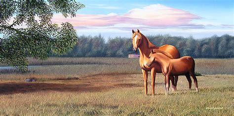 imagenes de paisajes y caballos im 225 genes arte pinturas caballos con paisaje