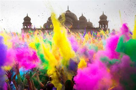 holi el festival de los colores cris en la india