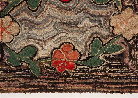 pa rug 19th century floral hooked rug on sretcher frame from pa for sale at 1stdibs