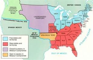1820 map of united states 1820 missouri compromise