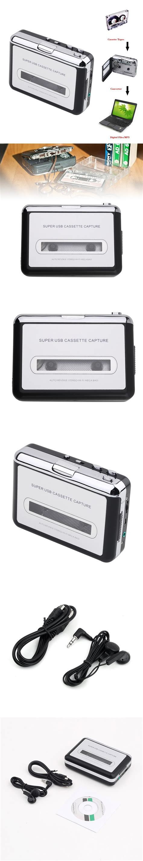 cassette to cd to pc usb cassette mp3 cd converter capture for