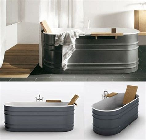 galvanized steel bathtub quot patricia urquiola s vieques tub has me wanting to replace my builder s grade