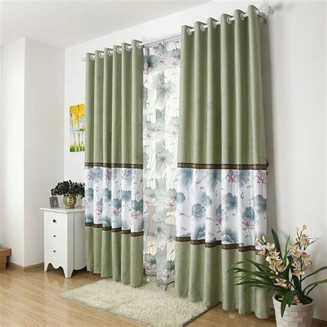 latest design curtains green splice cloth for curtain 2015 new arrival chenille