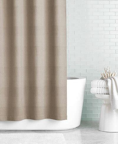 shower curtains macys hotel collection 72 quot x 84 quot extra long waffle knit shower
