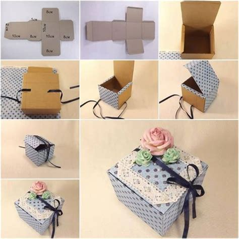 How To Make A Paper Gift Box Step By Step - wonderful diy handmade gift box