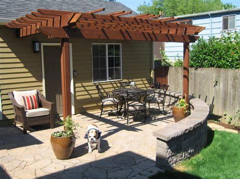 patio pergola for outdoor living craftsman landscape