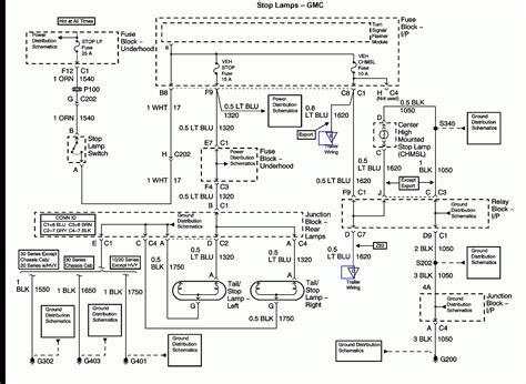 chevy silverado  trailer wiring diagram trailer wiring diagram