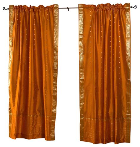 mustard curtain panels mustard yellow rod pocket sheer sari curtain drape