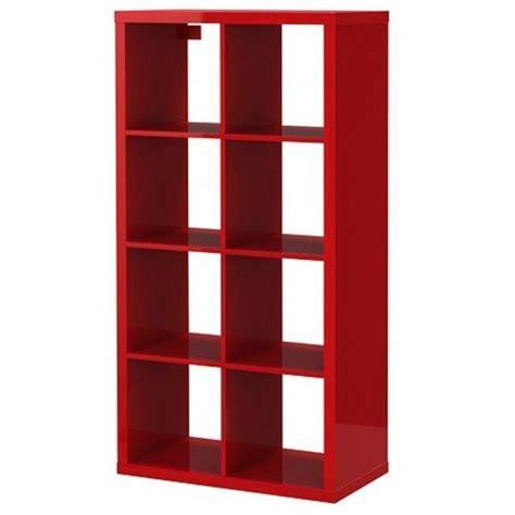 libreria rossa ikea ikea kallax bookcase shelving unit display high gloss