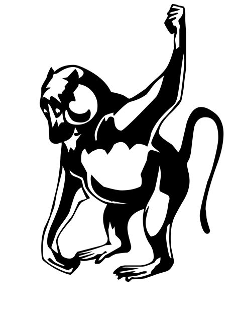 evil monkey coloring pages how to draw evil monkey