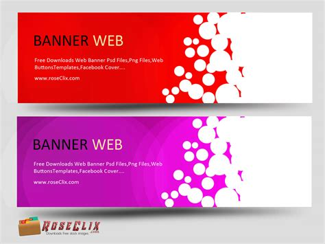 Colorful Banner Design Free Horizontal Psd Banner Template Psd