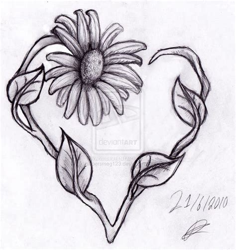flower heart tattoo designs images ink inspiration