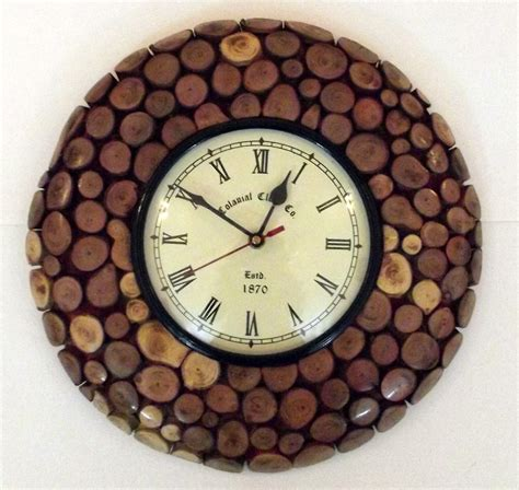 clock made of clocks shop handmade wooden wall clock online shopclues