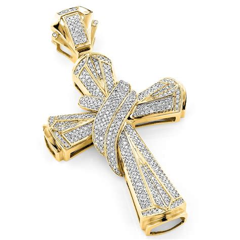 hip hop jewelry large 10k gold mens cross