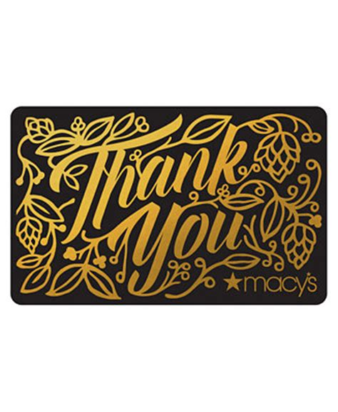 E Gift Cards Macy S - thank you e gift card gift cards macy s