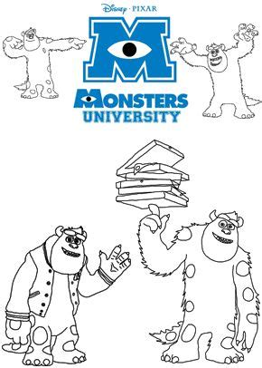 coloring pages monster university 125 best disney monsters inc and monsters university