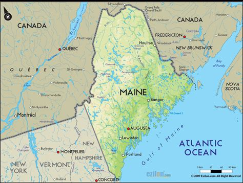 maine map travel map vacations travelsfinders
