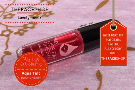 Jual The Shop My Eat Cherry the shop my eat cherry aqua tint review ang savvy