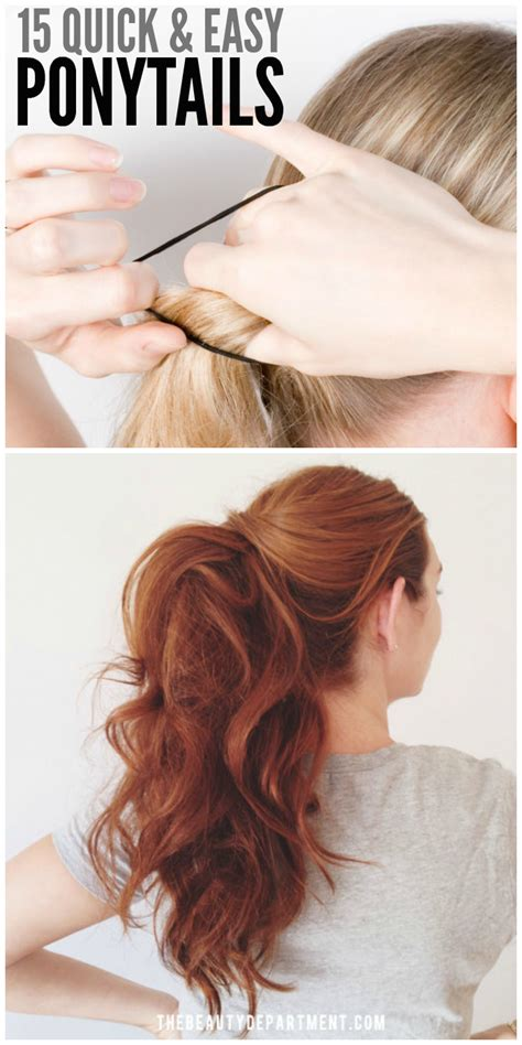 how to seeo pony tail with crown height 15 cute and quick ponytail ideas to spruce up mom hair