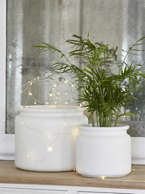 white ceramic planters indoor ceramic plant pots