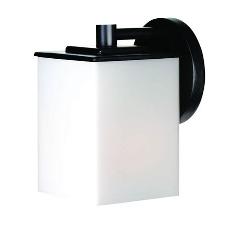 Philips Outdoor Light Philips Midnight 1 Light Black Outdoor Wall Lantern F849819 The Home Depot