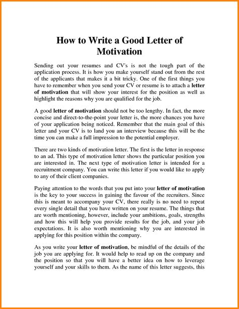 it motivation letter 9 how to write motivation letter ledger paper