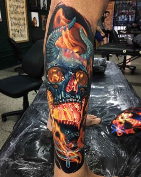 demon skull tattoo best tattoo ideas gallery