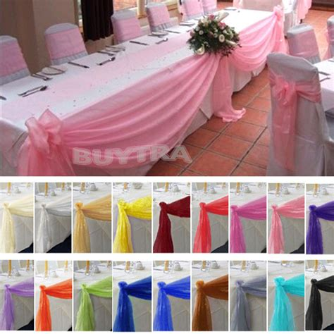 diy decorations bows table swags sheer organza fabric diy wedding bow