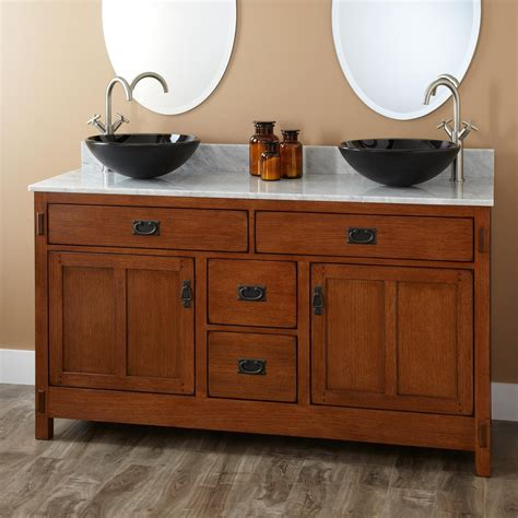Kitchen Cabinet Organizers Home Depot by 60 Quot Halstead Vessel Sink Vanity Double Sink Vanities