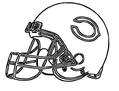 Bears Football Coloring Page | pictures football helmet chicago bears coloring pages